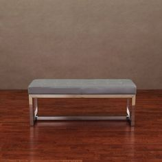 Liberty Charcoal Grey Leather Bench | Overstock™ Shopping - Great Deals on Benches