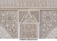 Moroccan decorative fretwork - outline cutout on pantry back with wire