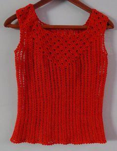 Tutorial Blusa Naranja Escote Cuadrado a crochet Vídeo 2 de 5