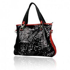 Trendy Bordered and Sequins Design Shoulder Bag For Women, BLACK in Shoulder Bags   DressLily.com