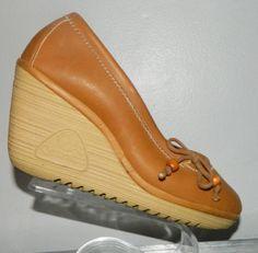 vintage 70s CHEROKEE 7 wedge heel platform by thevintagevoice Women's vintage fashion footwear shoes
