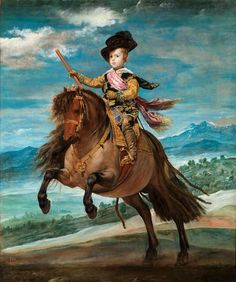 Diego Velázquez, « Baltasar Carlos on Horseback« , 1635. Oil on canvas, 209 x 173 cm. © Madrid, Museo del Prado