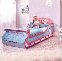 Mooi #sleebed voor meisjes (90x190) in #Disney #Frozen thema!
