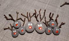 Christmas Pebble Picture, Reindeer Pebble art, Family gift, Framed Christmas present, Christmas decor, Christmas decoration, Christmas tree