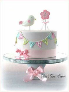 Inspiration Image of Bird Birthday Cake - birthday cake images - Bird Cakes, Cupcake Cakes, Girl Cupcakes, 1st Birthday Cake For Girls, Cake Birthday, 31 Birthday, Princess Birthday, Birthday Ideas, Birthday Parties