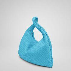 "Best price Bottega Veneta Turquoise Intrecciato Nappa Large Veneta style 115654 V0016. Dimensions:20.1"" W x 19.7"" H x 2"" D"