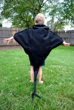 The Black Stingray Costume Handmade for Children by AlphabetCircus, $75.00
