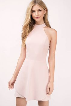 It will be love at first sight with the pink layered skater dress!