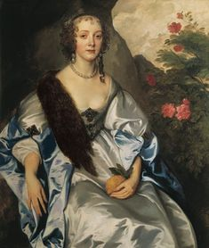 1637 (probable date) Elizabeth Savage, Lady Thimbleby probably by Sir Anthonis van Dyck (location unknown to gogm) | Grand Ladies | gogm