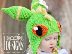 Dragonfly Monster Dragon Hat Crochet Pattern for Boys and Girls of all ages