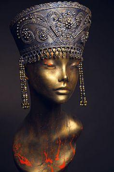 Exlusively hand made old Russia style headdress KOKOSHNIK
