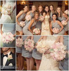 Elegant pastel pink wedding flowers.  Swoon! #weddingflowers