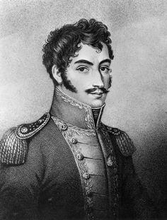South American revolutionary leader Simon Bolivar known as 'The Liberator' Original Artwork Engraving by W Hall