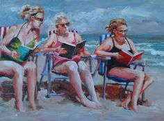 Bev Jozwiak – award winning artist from Vancouver, Washington. Kim English, Sand And Water, Caravaggio, Girls Weekend, French Artists, Beach Art, Watercolor Art, Westerns, Gallery