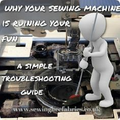 Sewing Techniques Couture In depth troubleshooting guide on how to stop your sewing machine ruining all… - In depth troubleshooting guide on how to stop your sewing machine ruining all your fun. Find out how to fix your own sewing machine problems. Sewing Hacks, Sewing Tutorials, Sewing Crafts, Sewing Tips, Sewing Ideas, Techniques Couture, Sewing Techniques, Sewing Machine Repair, Sewing Machine Tension