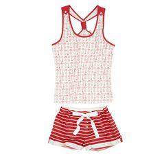 Pijama Cute Pajama Sets, Cute Pjs, Cute Pajamas, Red Pajamas, Girls Pajamas, Pyjamas, Lounge Outfit, Lounge Wear, Pajama Outfits