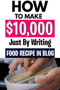If you know how to make delicious food or if you know how to share delicious food recipes? Then you can make a lot of money because people are hungry to download delicious food recipes you will learn how the proven way that will help you to make money only by writing a healthy recipes. #typingjobs #workfromhome #sidehustles #earnmoneyfromhome#makemoney #easyonline Earn Money From Home, Make Money Blogging, Way To Make Money, Make Money Online, How To Make, Business Planner, Business Tips, Online Business, Making 10