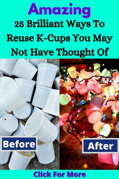 They can actually be reused. There are lots of things you can do with your old K-Cups. You can make crafts or things to help you out around the house. You can even grow plants with K-Cups. Or you might want to use them to keep organized. Either way, you'll definitely want to hang on to them from now on. Here are 25 amazing ways to reuse K-cups: #BrilliantIdeas #ReuseKCups