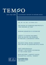 Tempo - http://journals.cambridge.org/tem