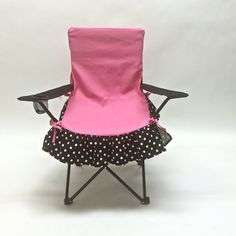 Glamping Accessory, Fancy Chair Covers, Pink, Black and White Polka Dot Glamorous Camping, Event Chair Covers, Great Bridal Shower gift