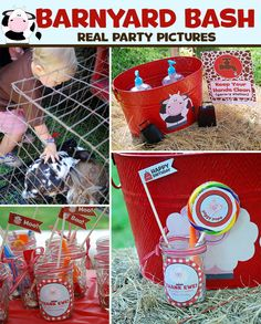Barnyard Birthday Party Printables Mini Package by LiPPaperie