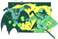 Batman vs The Riddler by Dan Hipp