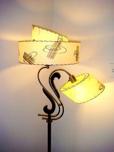 Vtg. 1950s MAJESTIC HEIFETZ Mid-Century ATOMIC RANCH FLOOR LAMP EAMES ERA