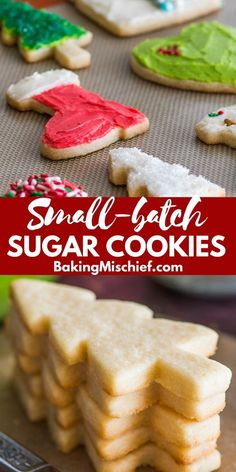 This Small Batch of Cut-out Sugar Cookies recipe makes just 8 to 12 perfect suga. - This Small Batch of Cut-out Sugar Cookies recipe makes just 8 to 12 perfect sugar cookies and is qu - Sugar Cookie Recipe Small Batch, Small Batch Baking, Cut Out Cookie Recipe, Easy Cheesecake Recipes, Easy Cookie Recipes, Baking Recipes, Dessert Recipes, Yummy Recipes, Chewy Sugar Cookies
