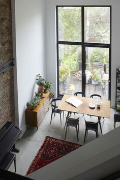 Cost-Conscious and Inventive: A Flood-Proofed Brooklyn Townhouse Rebuild by Takatina Brick Interior, Interior Architecture, Interior Design, Brownstone Interiors, Townhouse, Ikea Kitchen, Living Room Kitchen, Dining Rooms, Open Space Living