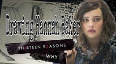 DRAWING HANNAH BAKER (Katherine Langford)13 REASONS WHY- Desenhando Hann...