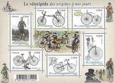 France Stamp 2011 History OF Bicycle Transportation | eBay