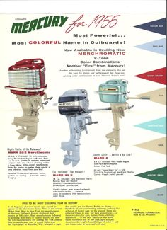 1955 Mercury Outboard Brochure