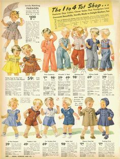 15% OFF Vintage 1940s Sears Catalog Page by TheVintageRead on Etsy