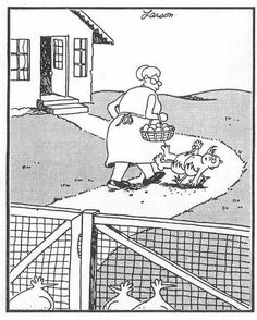 The Far Side - Gary Larson. Such a strange, but funny, sense of humor! The Far Side Gallery, Far Side Cartoons, Far Side Comics, Funny Cartoons, Funny Comics, Haha Funny, Funny Memes, Hilarious, Funny Stuff