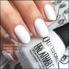Quo by Orly Breathable Nail Polish – Barely There (white)