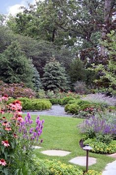 "Privacy Trees And Shrubs Design Ideas ""steel and bordered with loosely hand-pruned, Boxwood 'Green Velvet,' Knock-out Roses"" ""Roses, and Lavender. Norway Spruce provide a scenic backdrop."" ""Layering of trees and plants - dense."" ""different types of evergreen to create a privacy fence"""