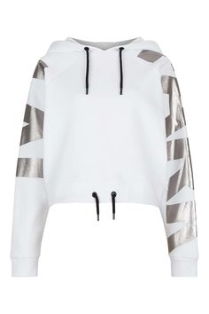 Logo Sleeve Cropped Hoodie by Ivy Park - Ivy Park - Clothing - Topshop