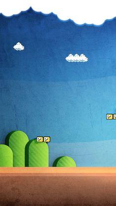 Super Mario wallpaper. Nintendo, Mario, map, game, iphone, android, wallpaper.