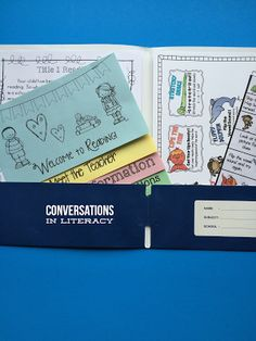 Back to School Information Folders and Free Editable Flip Book!