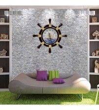 Dümen Şeklinde Dekoratif Duvar Saati