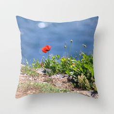 Spring Papaver 889 Throw Pillow by metamorphosa - $20.00