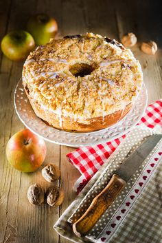 ciambella alle mele con crumble - apple cake with crumble