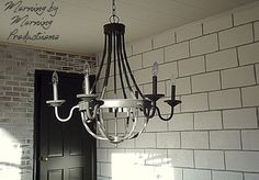 painting cinder block wall | painted cinder block wall with grey grout |