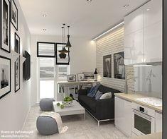 Home Studio Interior Black White Ideas For 2019 Condo Interior Design, Condo Design, Studio Interior, Interior Modern, Apartment Interior, Parisian Apartment, Minimalist Apartment, Design Room, Apartment Living