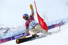 DAY 13:  Justin Reiter of the USA competes during the Snowboard Men's Parallel Giant Slalom http://sports.yahoo.com/olympics