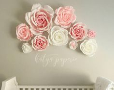 This is listing for 1 giant 24 inches crepe paper flower, handmade with great care! Gorgeous breathtaking flower for special moment... Perfect for bridal shower or wedding reception decoration, party displays or huge table centerpieces. You will love it! We offer several color options for your flowers: - $39.99 flowers made from premium extra heavy crepe paper. - $49.99 flowers made from Exceptional quality Imported (Italian) crepe paper. - $59.99 flowers made from Exceptional quality…
