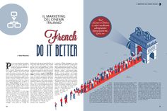 """French Do It Better"" Magazine Design Brochure Design Layouts, Template Brochure, Graphic Design Brochure, Graphic Design Posters, Flyer Template, Editorial Layout, Editorial Design, Newspaper Design Layout, Design Presentation"