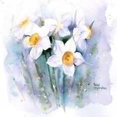 Leading Illustration & Publishing Agency based in London, New York & Marbella. Watercolor Artwork, Watercolor Cards, Watercolor Flowers, Flower Images, Flower Art, Flora Und Fauna, Floral Drawing, Birth Flowers, Spring Painting