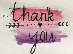 Handlettering #bedankkaartje #thankyou #brushpen