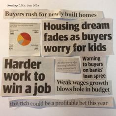 Feeling a bit overwhelmed?  Haven't a clue as to what is going on with the property market?  Well, here's What's News for this week.